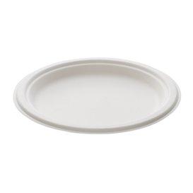 Suikerriet bord wit Ø23 cm (50 stuks)