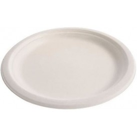 Suikerriet bord wit Ø23 cm (500 stuks)