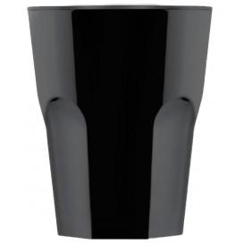"Plastic glas SAN Herbruikbaar ""Rox"" zwart 300ml (120 stuks)"