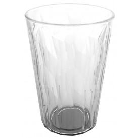 "Plastic glas SAN Herbruikbaar ""Graniten"" Ice transparant 420 ml (75 stuks)"