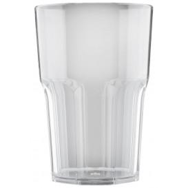 """Plastic glas SAN Herbruikbaar """"Graniten"""" transparant 400 ml (75 stuks)"""