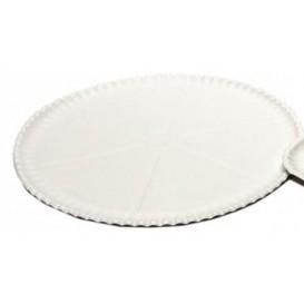 Papieren Pizza bord wit Ø33cm (200 stuks)