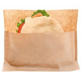 Papieren voedsel envelop Vetvrij kraft 21x17/11x3cm (100 stuks)