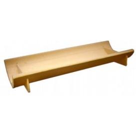 Bamboe wegwerp dienblad 20x6x3cm (10 stuks)