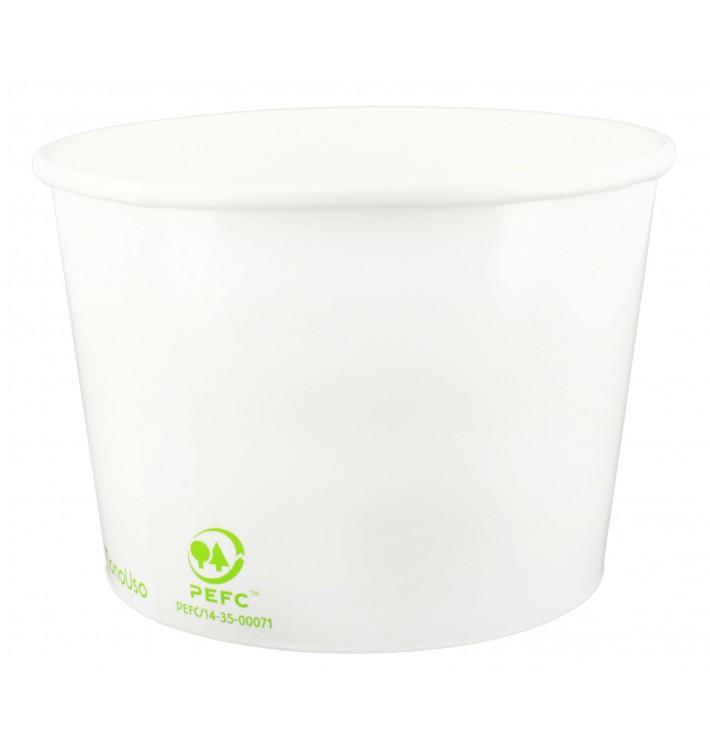 Papieren ijs Container Eco-Vriendelijk 260ml (55 stuks)