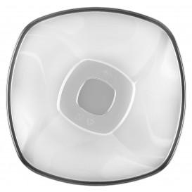 Bol de Plastico Transparente Ø210mm Square PS 1250ml (3 Uds)