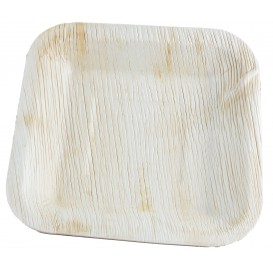 Palm blad bord Vierkant 20x20cm (100 stuks)