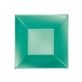 Plato de Plastico Hondo Verde Nice Pearl PP 180mm (25 Uds)