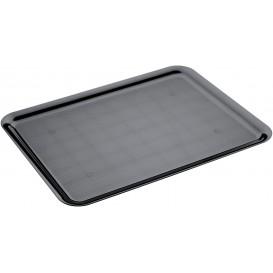 Plastic dienblad zwart 37x50cm (4 stuks)
