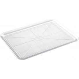 Plastic dienblad transparant 37x50cm (4 stuks)