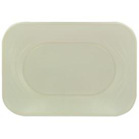 """Plastic dienblad microgolfbaar """"X-Table"""" parel 33x23cm (2 stuks)"""