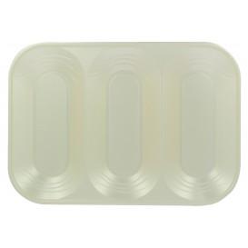 """Plastic Compartment dienblad """"X-Table"""" 3C parel 33x23cm (30 stuks)"""