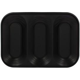 "Plastic dienblad microgolfbaar ""X-Table"" 3C zwart 33x23cm (30 stuks)"