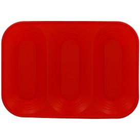 """Bandeja de Plastico PP """"X-Table"""" 3C Rojo 330x230mm (2 Uds)"""