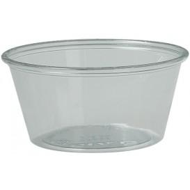 Plastic souffle beker PS transparant 100ml Ø7,3cm (250 stuks)