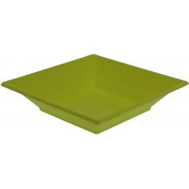Plastic bord Diep Vierkant pistache groen 17 cm (5 stuks)