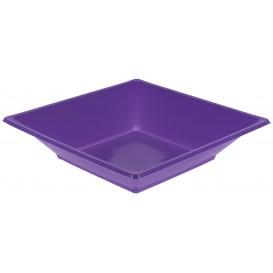 Plastic bord Diep Vierkant lila 17 cm (750 stuks)