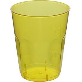"Plastic PS Shotje Kristal ""Diamant"" geel 50ml (20 stuks)"
