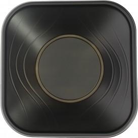 """Plastic Kom PP Vierkant """"X-Table"""" zwart 18x18cm (8 stuks)"""