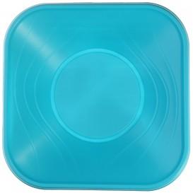 "Plastic Kom PP Vierkant""X-Table"" turkoois 18x18cm (120 stuks)"