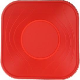 "Plastic Kom PP Vierkant ""X-Table"" rood 18x18cm (8 stuks)"