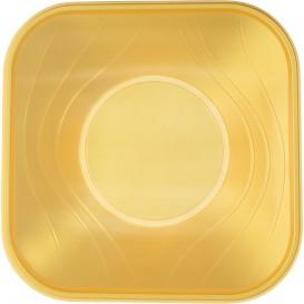 "Plastic Kom PP Vierkant ""X-Table"" goud 18x18cm (120 stuks)"