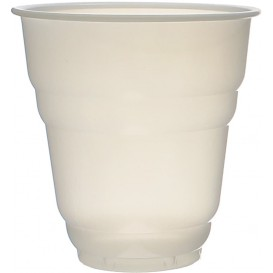 "Plastic PS beker Vending ""Design"" wit satijn 166ml Ø7,0cm (100 stuks)"