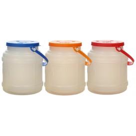 Plastic melk Container met handvat en Deksel 500 ml (100 stuks)