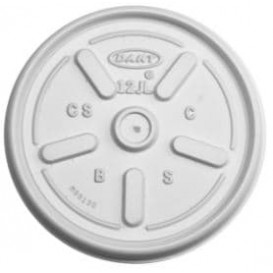 Plastic Deksel PS voor Schuim beker Plat Ø8,9cm (1000 stuks)