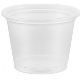 Plastic PP Soufflébeker transparant 30ml Ø4,8cm (2500 stuks)