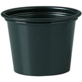 Plastic PP Soufflébeker zwart 30ml Ø4,8cm (250 stuks)