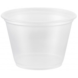 Plastic PP Soufflébeker transparant 75ml Ø6,6cm (125 stuks)