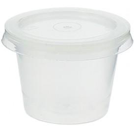 Plastic PP Soufflébeker met Deksel 33ml (100 stuks)