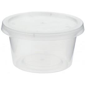 Plastic PP Soufflébeker met Deksel 120ml (50 stuks)