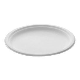 Suikerriet bord wit Ø26 cm (50 stuks)