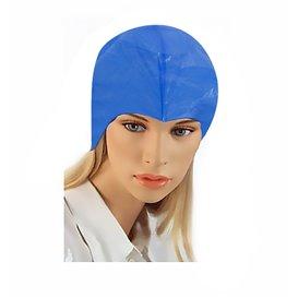 Wegwerp haarnetje PE pet haarbehandeling blauw (50 stuks)