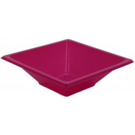 Plastic kom PS Vierkant fuchsia 12x12cm (720 stuks)