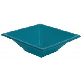 Plastic kom PS Vierkant turkoois 12x12cm (25 stuks)