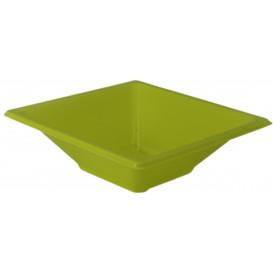 Plastic kom PS Vierkant pistache 12x12cm (25 stuks)