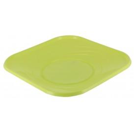 "Plastic bord PP ""X-Table"" Vierkant Lime 23 cm (8 stuks)"
