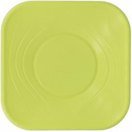 "Plastic Kom PP Vierkant ""X-Table"" Lime 18x18cm (120 stuks)"