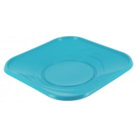 """Plastic bord PP """"X-Table"""" Vierkant turkoois 23 cm (120 stuks)"""