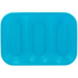 """Plastic dienblad microgolfbaar """"X-Table"""" 3C turkoois 33x23cm (2 stuks)"""