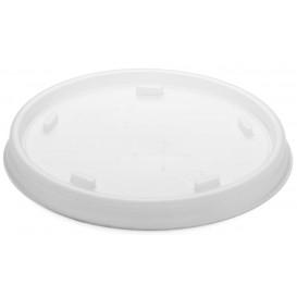 Plastic PS Deksel met rietsleuf transparant Ø8,1cm (100 stuks)