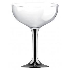 Plastic stam fluitglas niquel chroom 200ml 2P (40 stuks)
