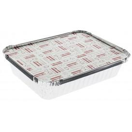 """Papieren Deksel voor Folie pan """"6 Cannelloni"""" 590ml (500 stuks)"""