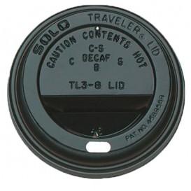 Deksel voor beker gat 6 en 8 Oz zwart Ø7,9cm (1000 stuks)