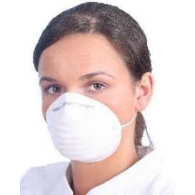 Wegwerp PP stofmasker wit (50 stuks)
