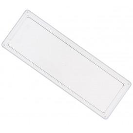 Plastic dienblad PS Rechthoekige vorm transparant 4,6x13cm (500 stuks)