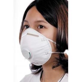 Wegwerp stofmasker met Ventiel wit FFP2 (200 stuks)